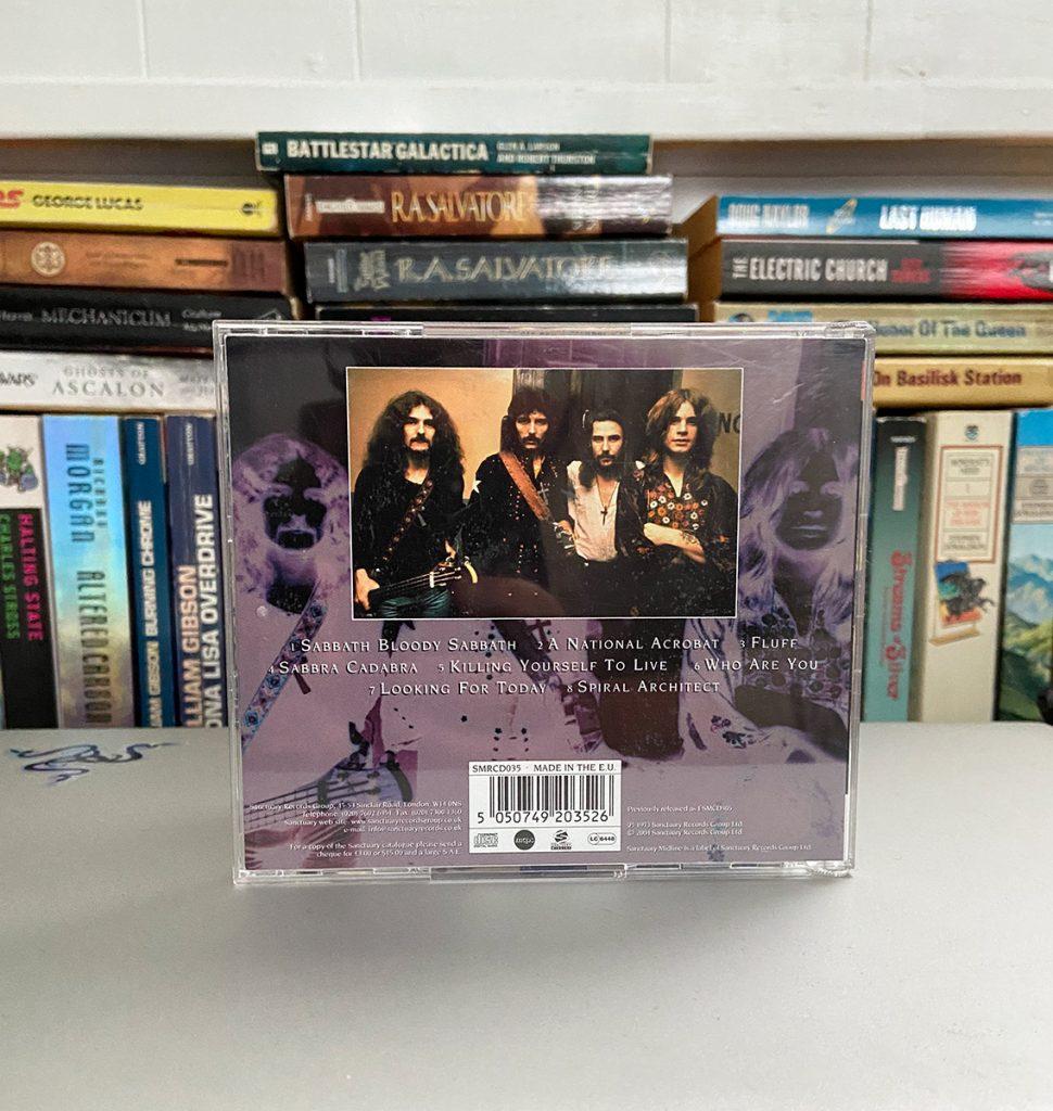 murpworks - musicfan6160 - A Change in Sound is Coming Pt 2 - Black Sabbath CD back cover image