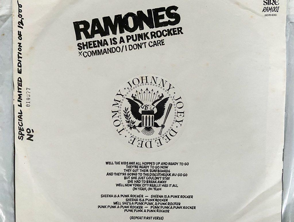 murpworks - musicfan6160 - A Virgin Plastic Bag - Ramones - Sheena back cover image