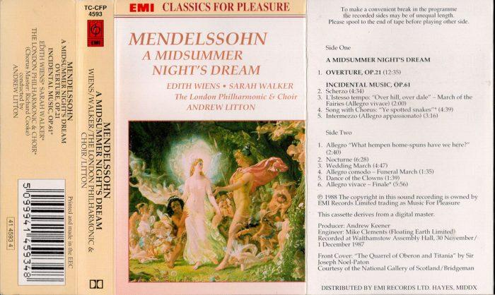 murpworks - musicfan6160 - A Condensed History Pt. 4 - Mendelssohn tape cassette insert image