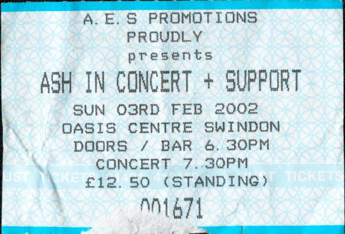murpworks - musicfan6160 - A Condensed History Pt. 5 - Ash in Concert ticket image