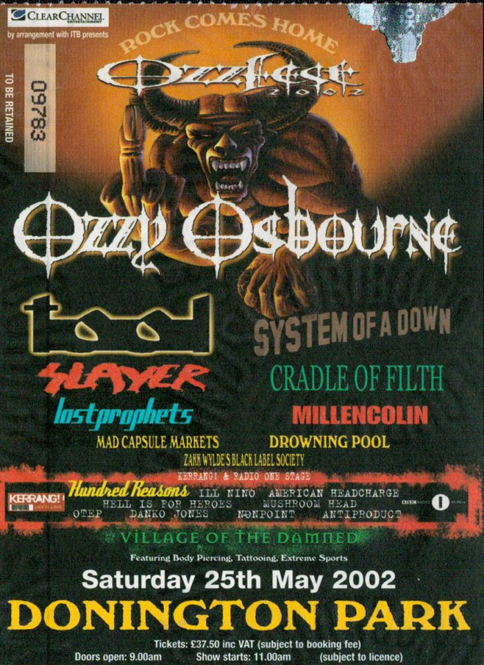 murpworks - musicfan6160 - A Condensed History Pt. 5 - Ozzfest ticket image