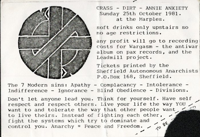 murpworks - musicfan6160 - A Condensed History Pt. 2 - Crass ticket image