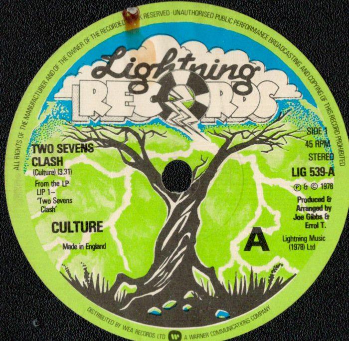 murpworks - musicfan6160 - A Condensed History Pt. 2 - Culture-Two Seven's Clash single label image