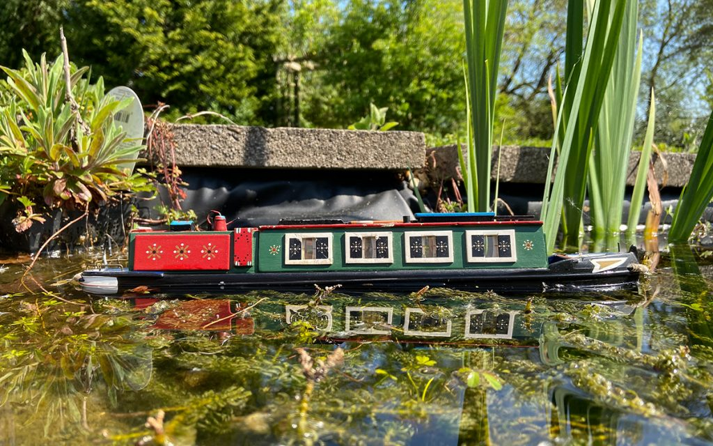 murpworks - The Tales of Silverdale - Transition - narrowboat on pond image