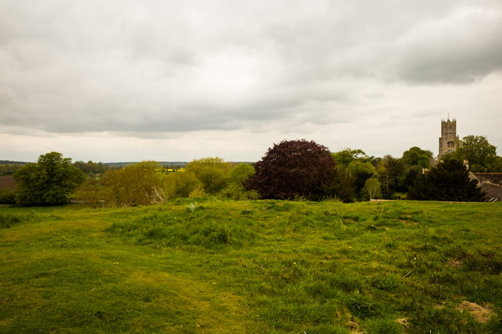 murpworks - The Tales of Silverdale - A Mooring Along the Way - View from Fotheringhay Castle toward the Church image
